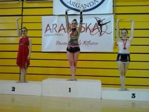 Senior A aro. Marta 1ª clasificada.